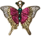 2019 Christmas Butterfly Ornament Charm