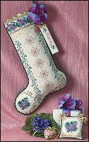 JN044 Just Nan Sugarplum Violets Stocking • ©1997, Nan Caldera