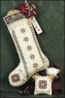 JN063 Just Nan Cranberry Plaid Stocking • ©1999, Nan Caldera