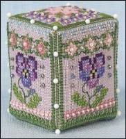 JN322 Pansy Rose Cube
